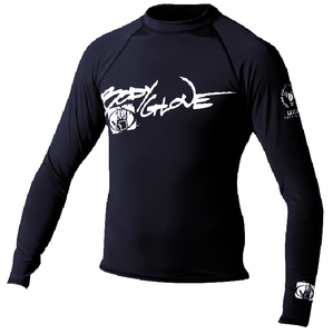 Basic Mens Long Sleeve Lycra Rash Guard Size S Black 1211SXX