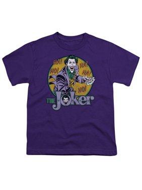 Dc - The Joker - Youth Short Sleeve Shirt - X-Large