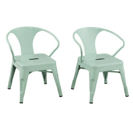 Set of 2 Kids Metal Activity Chairs Mint - ACEssentials