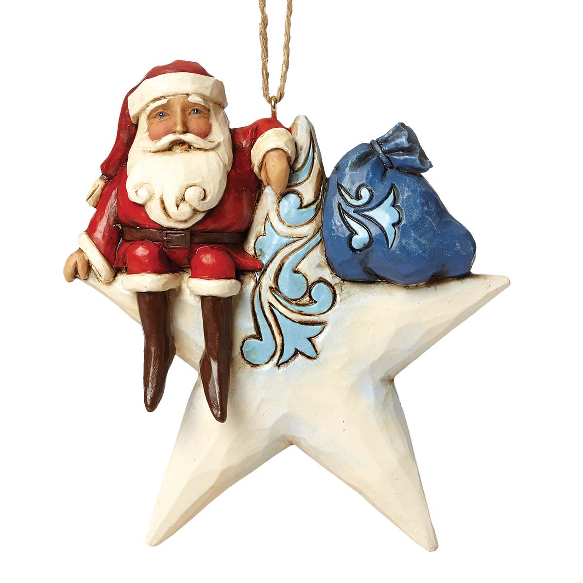 Star Shaped Santa Ornament Gift