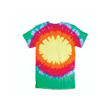 862452e54e5 2Bhip - Bright Rainbow Bullseye Youth Unisex Big Boys Big Girls Tie Dye T-Shirt  Tee - Walmart.com