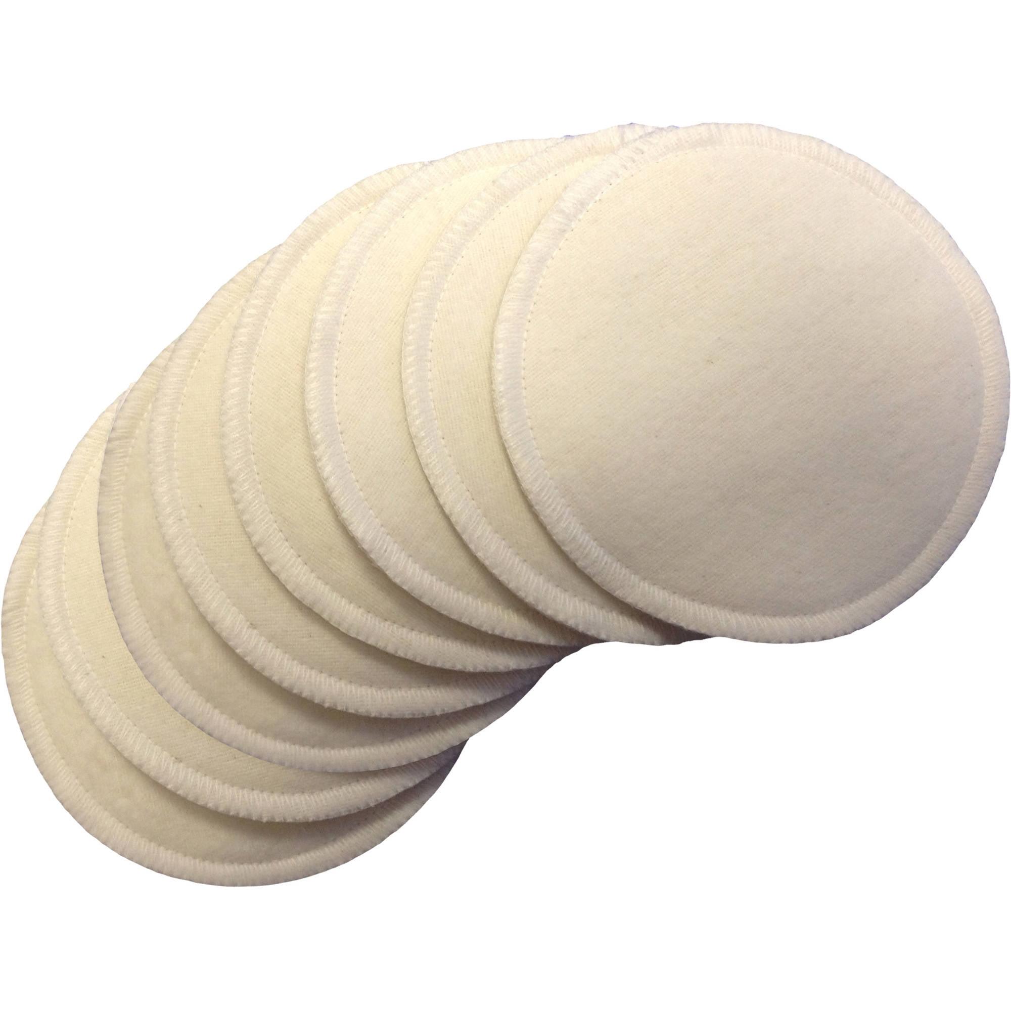 NuAngel Natural Cotton Washable Nursing Pads - 8 count