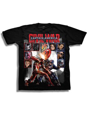 Marvel Comics Captain America Civil War Vs Boys' Short Sleeve T-Shirt