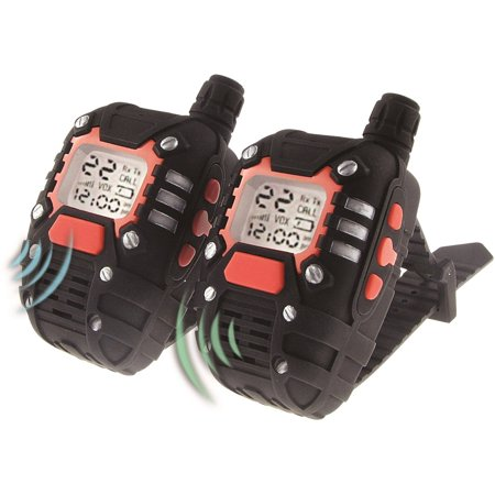 SpyX / Wrist-Talkies - Wearable 2 Mile Range Walkie Talkies+Watch. 22 Channel Scan and Voice Activation make this the perfect addition for your spy gear collection!