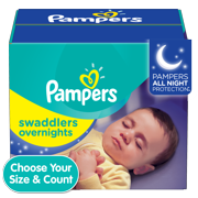 Pampers Swaddlers Soft and Absorbent Overnights Diapers, Size 4, 58 ct