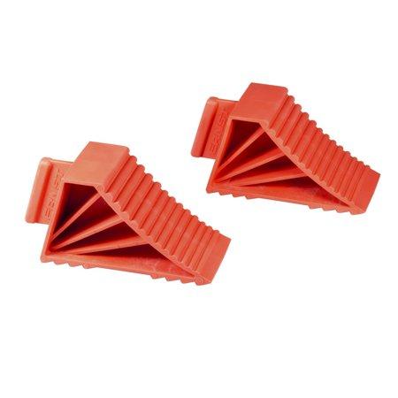 (Ernst Manufacturing 980 Red High-Grip Wheel Chocks, Set of 2)