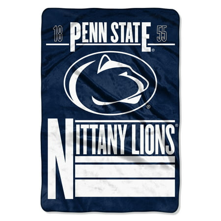 "NCAA Penn State Nittany Lions Faculty 62"" x 90"" Oversized Micro Raschel Throw Blanket, 1 Each"