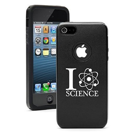 Apple Iphone 6 Plus   6S Plus Shockproof As Aluminum   Silicone Hard Soft Case Cover I Love Science  Black  Daylor
