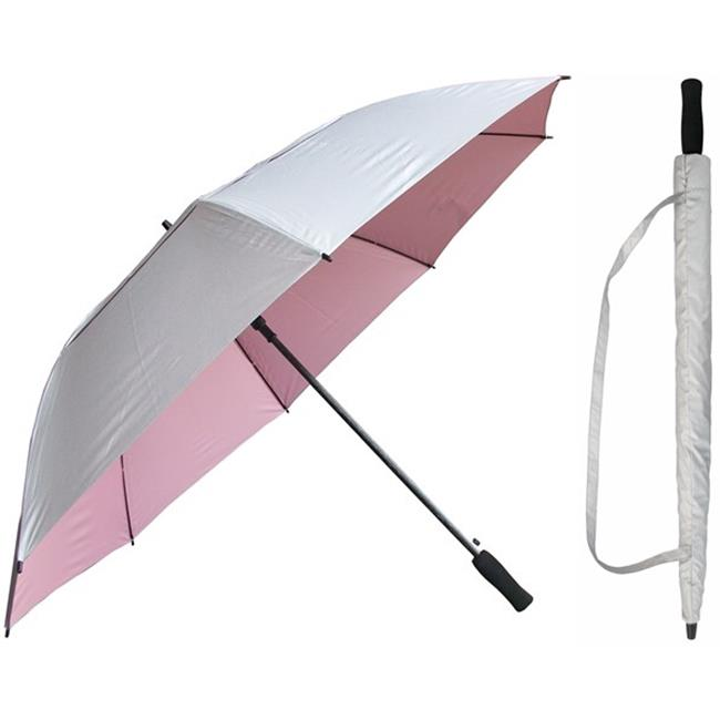 RainStoppers W056SILPINK 60 in. Auto Open Silver with Pin...