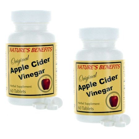 Lot of 2 Apple Cider Vinegar Herbal Supplement 120 Tablets Nature's (Benefits Herbal Supplements)