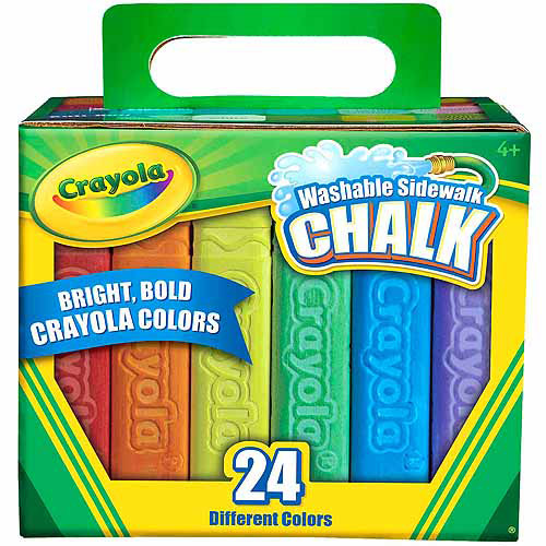 Crayola 24 Count Sidewalk Chalk Multi-Colored