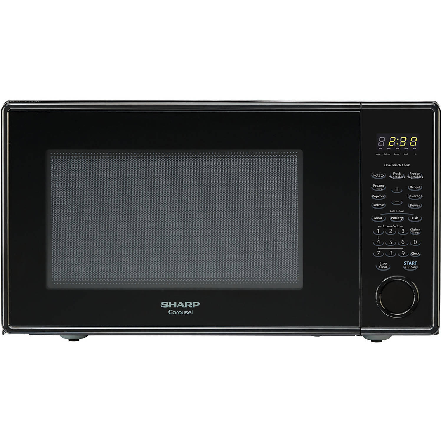 Sharp R309YK Carousel Countertop Microwave Oven 1.1 cu. ft. 1000W Black