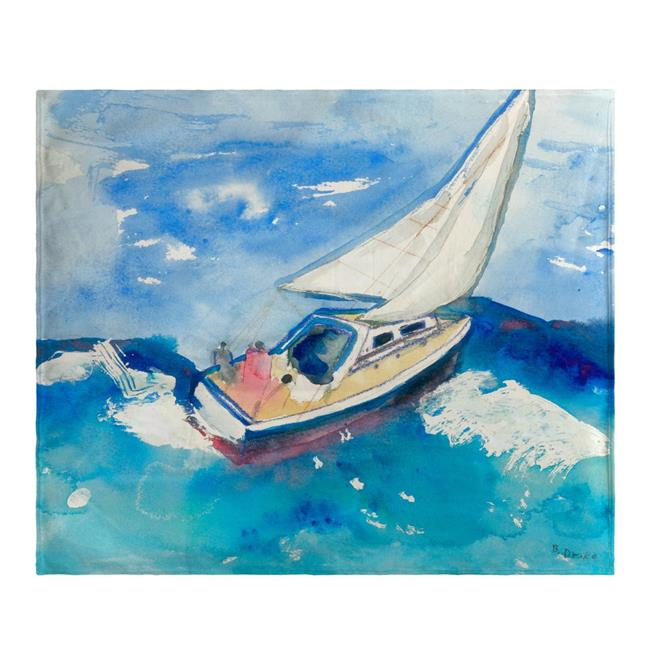 Betsy Drake BK257 Sailboat Fleece Throw