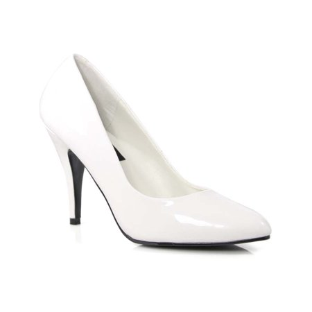 4 Inch Womens Sexy Shoes Wear To Work Shoes Classic Pump Shoes White Patent ()