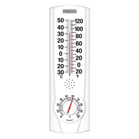 Springfield Plainview Indoor/Outdoor Thermometer and Hygrometer