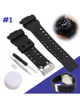 83946ae4e98 Product Image Black Silicone Rubber Replacement Strap Band With Tool For  G-Shock Watch Fitting 16mm Width