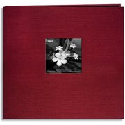 "Silk Postbound Album With Photo Window, 12"" x 12"""