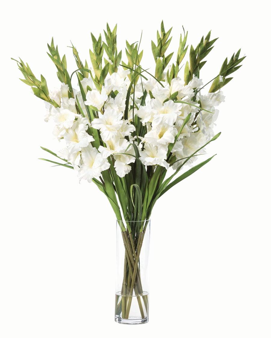 Gladiolus silk flower arrangement white walmart mightylinksfo