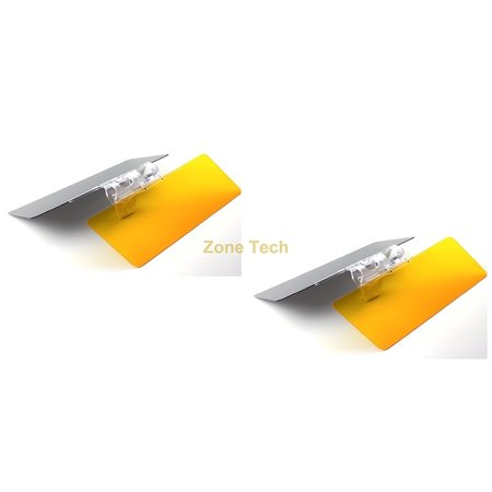Headlamp Visor (Zone Tech 2 Pack Multifunctional Day and Night Vehicle Clip on Adjustable Anti-Glare Sun Visor protects against sun rays, headlights, tailgates, damaging UV rays and blue light )
