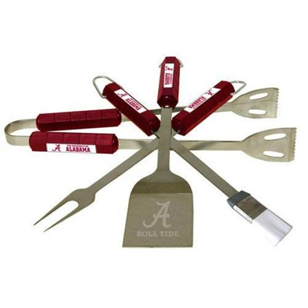 Bsi Products 61002 4 Pc Bbq Set   Alabama Crimson Tide