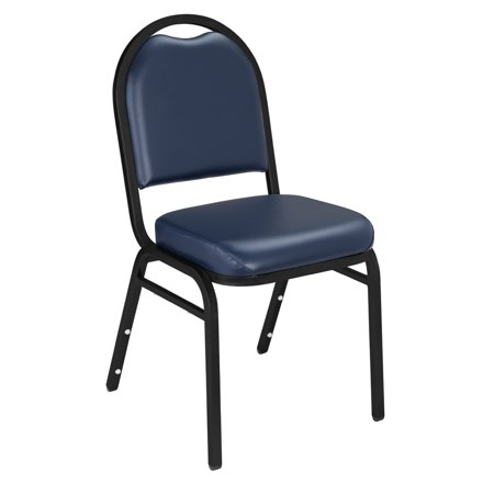 (Pack of 2) NPS 9200 Series Premium Vinyl Upholstered Stack Chair, Midnight Blue Seat