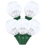 Sival 40254 - 25' 25 Light Green Wire G40 Clear Christmas Light String Set