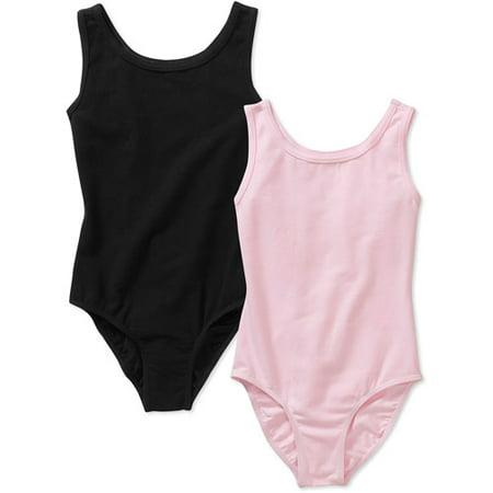 276ce6899729 Danskin Now - Girls  Sleeveless Dance Leotards 2-Pack Set - Walmart.com