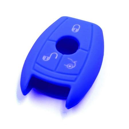 Blue Silicone Car Remote Key Fob Cover Case for Benz R-Class GLA Vito - image 3 of 3