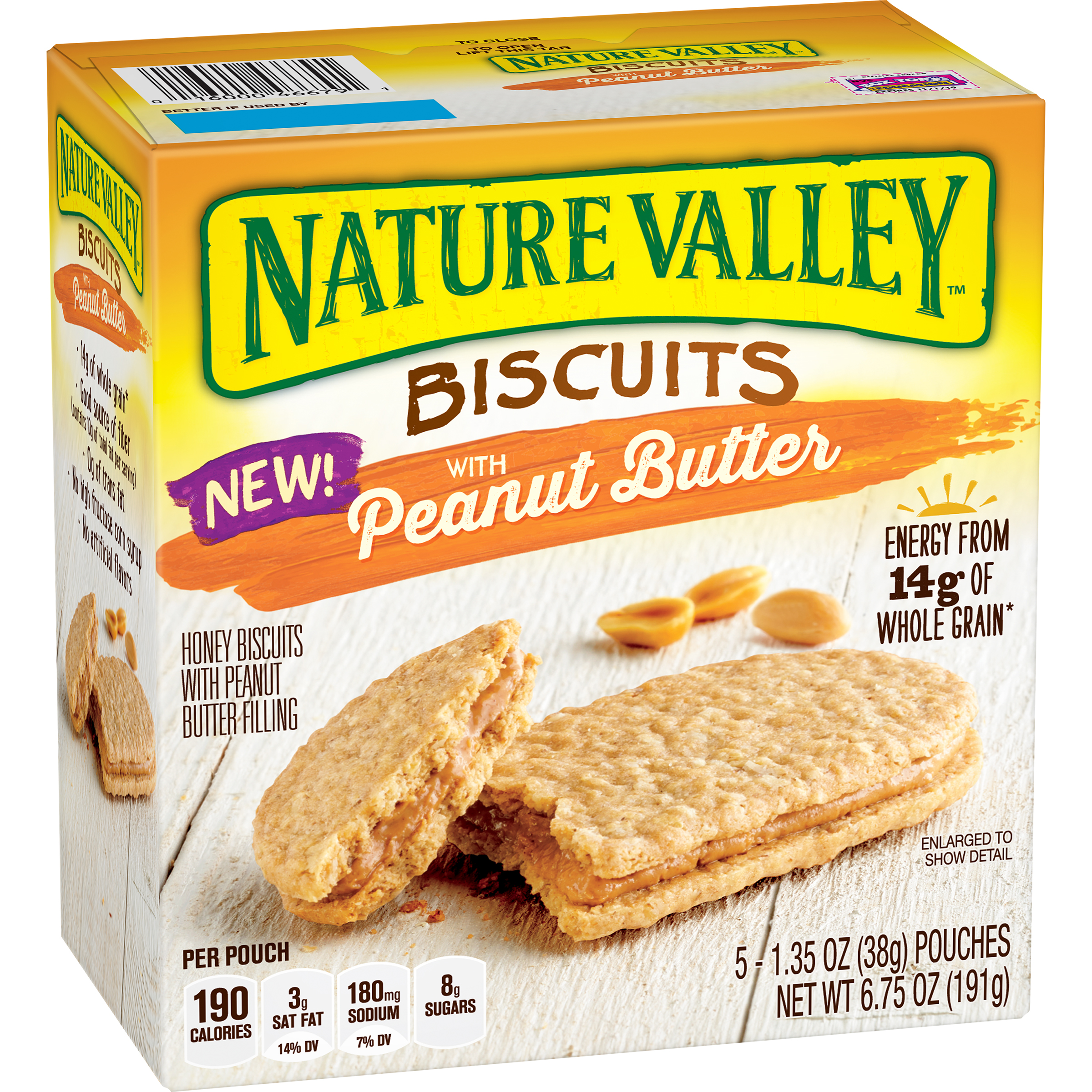 Nature Valley�� Biscuits with Peanut Butter 5 ct Box