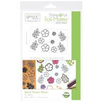 """Gina K Designs Stamp N Foil Sheet 5.5""""X8.5"""" 10/Pkg-Where Flowers Bloom"""