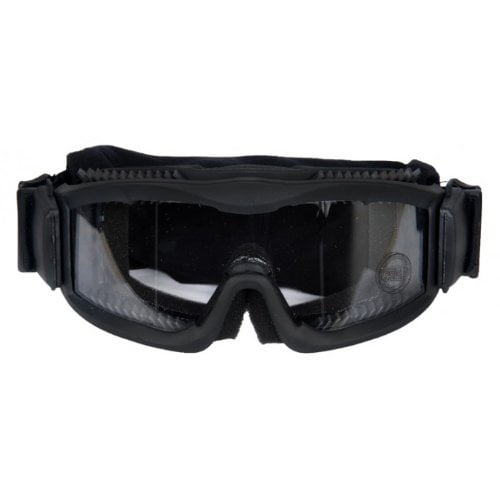 Lancer Tactical Ca-221B Clear Lens Vented Safety Airsoft Goggles, Black by