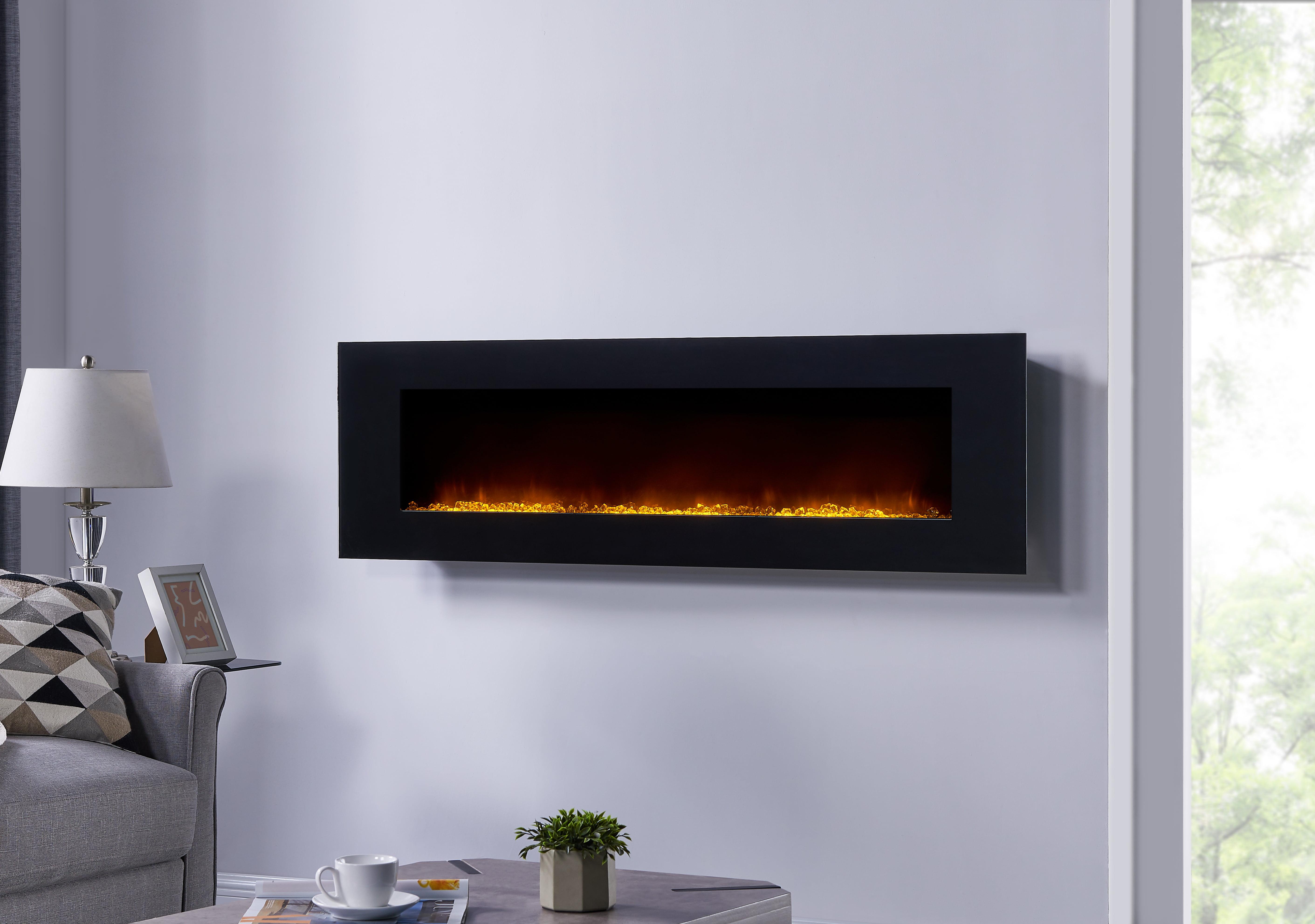 Bold Flame 60inch Wall Mounted Electric Fireplace Walmartcom