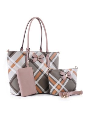 MKF Collection Jixi 3PC Tote with Wristlet Pouch and Crossbody Bag by Mia K.