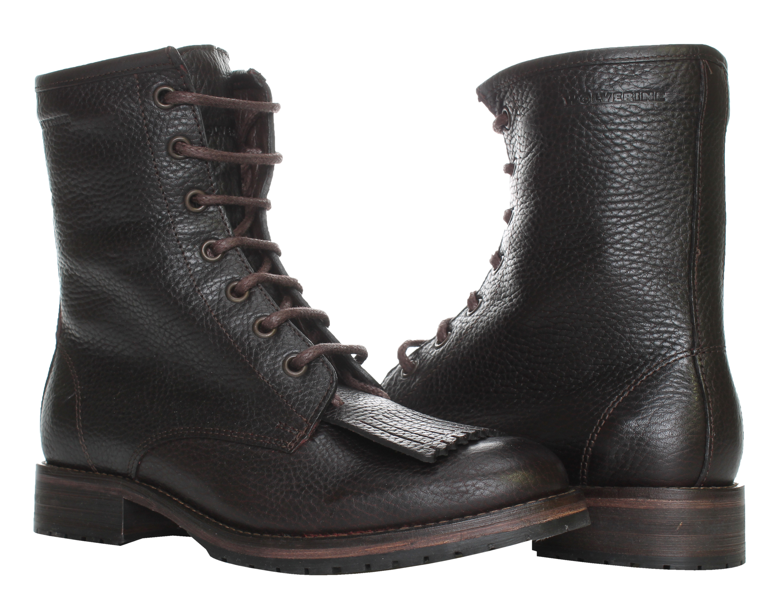 1883 by Wolverine Rosie 6 Kiltie Lace Up Burgundy Leather Women's Boots W40078 by Wolverine