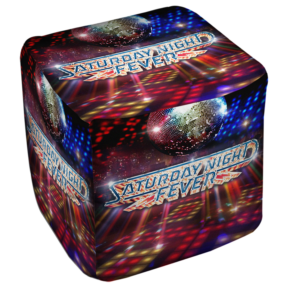 Saturday Night Fever Dance Floor Cube(Ottoman) White 18X18X18
