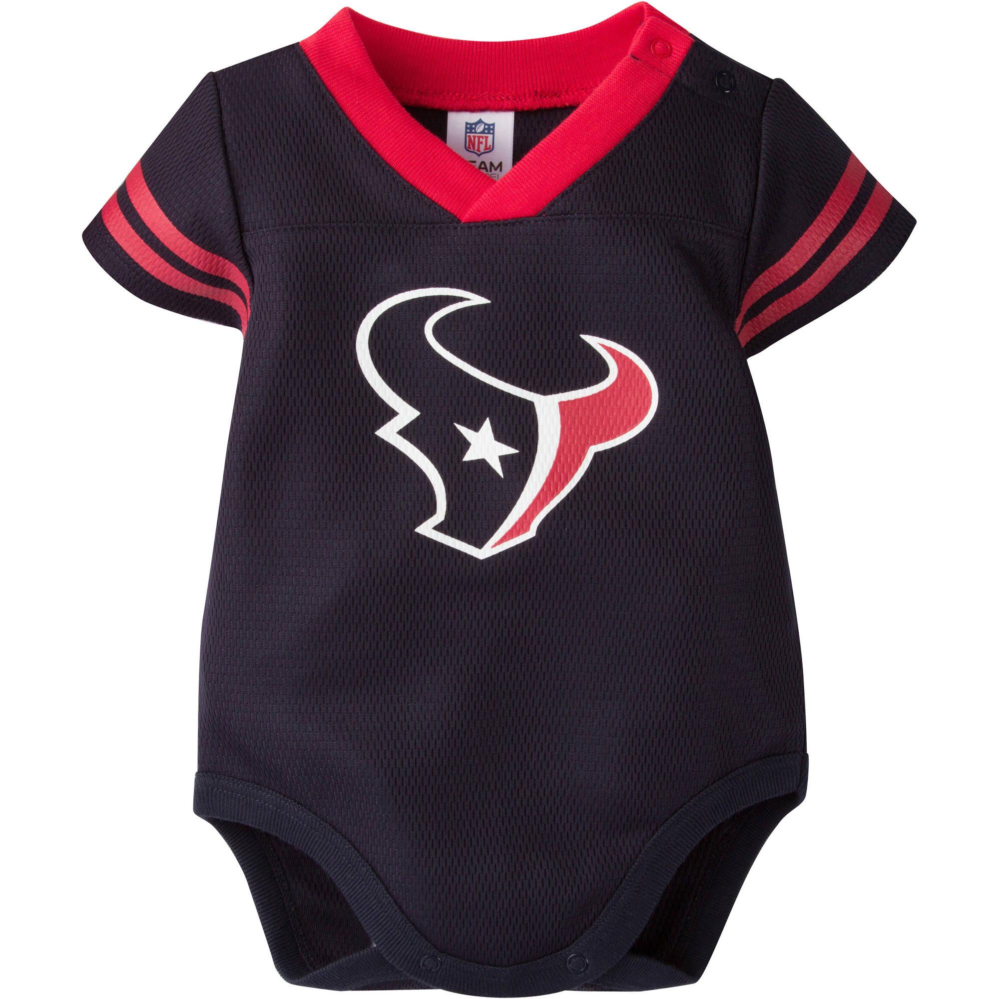 NFL Houston Texans Baby Boys Mesh Dazzle Bodysuit