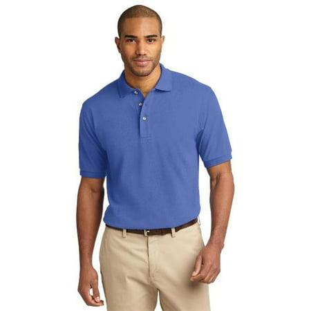 Port Authority® Heavyweight Cotton Pique Polo.  K420 Faded Blue Xl - image 1 de 1