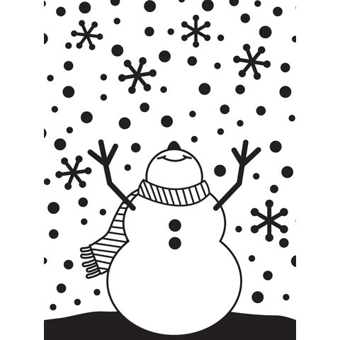 Embossing Folder Snowman Arms Up 4.25X5.75 By Darice
