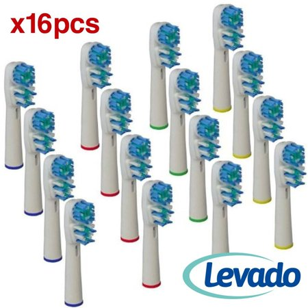 Generic Oral B Braun Dual Clean Electric Toothbrush Replacement Brush Heads 16 Pack♥ Compatible With Oral B Pro 500 1000 3000 5000 6000 7000 8000 Vitality.., By Levado