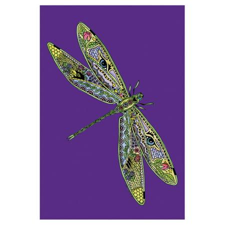 Toland Home Garden Animal Spirits - Dragonfly Flag - School Spirit Flags