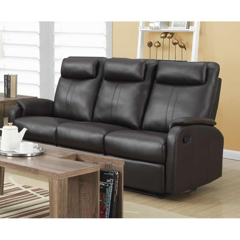 Monarch Leather Sofa in Dark Brown