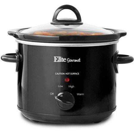 Elite Gourmet 3-Quart Slow Cooker, Black