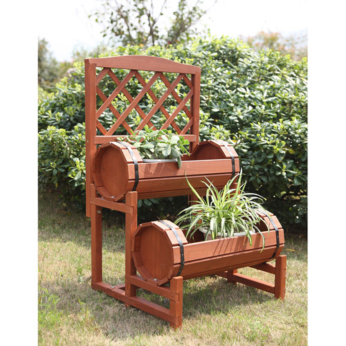 Convenience Concepts Planters and Potts Double Barrel Planter