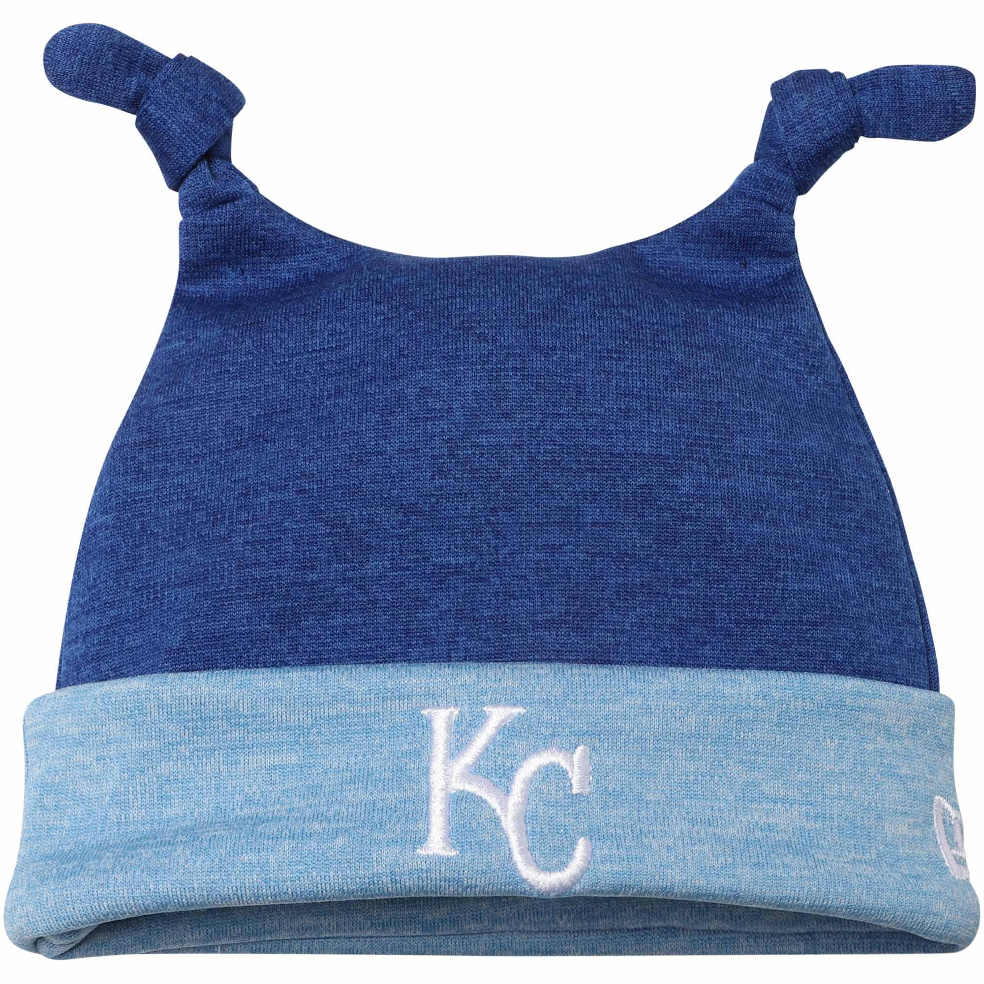 Kansas City Royals New Era Newborn Shadow Tot Dub Cuffed Knit Hat - Royal - OSFA