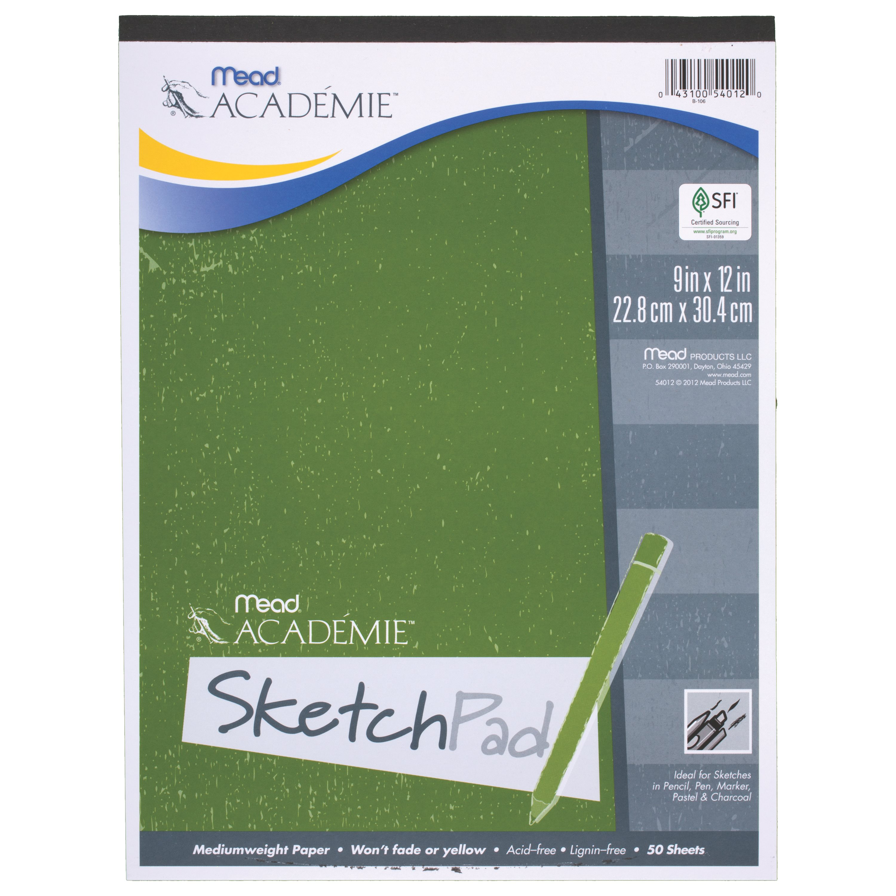 Mead Academie Sketch Pad, White