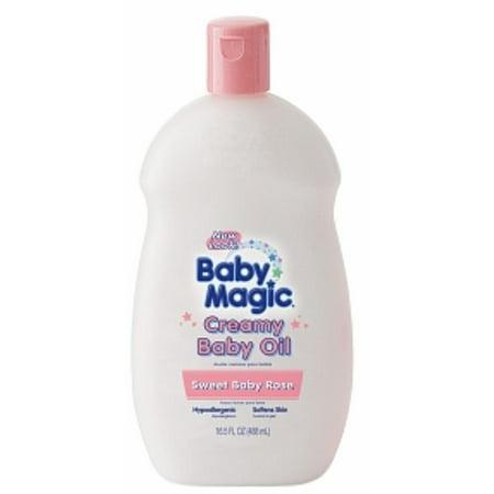 Baby Magic Crème Huile pour bébé, Sweet Baby Rose 16,5 onces (Pack de 6)