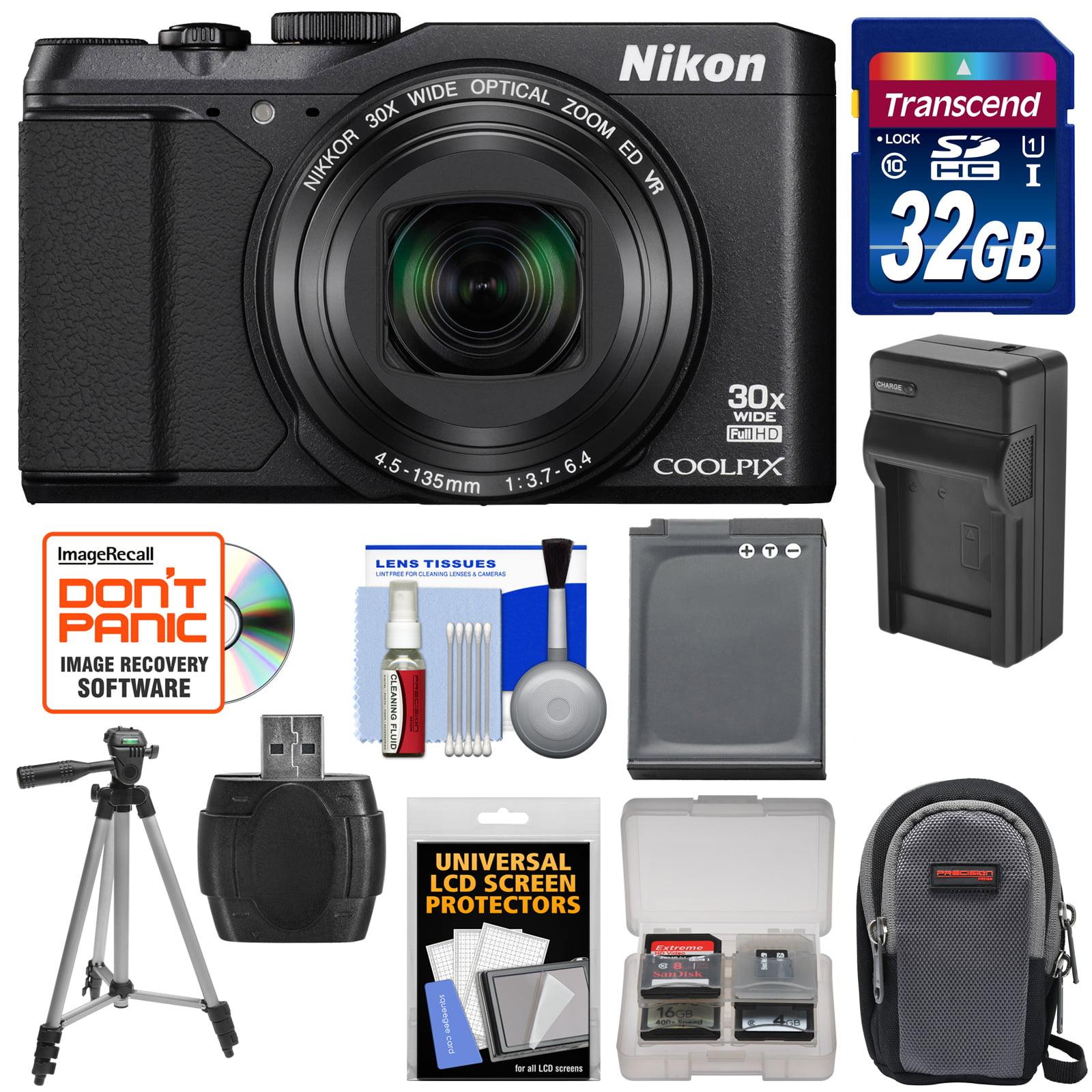 Nikon Coolpix S9900 Wi-Fi GPS Digital Camera (Black