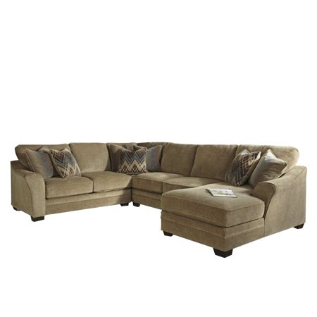 Amazing Ashley Lonsdale 4 Piece Right Chaise Loveseat Sectional In Barley Gmtry Best Dining Table And Chair Ideas Images Gmtryco