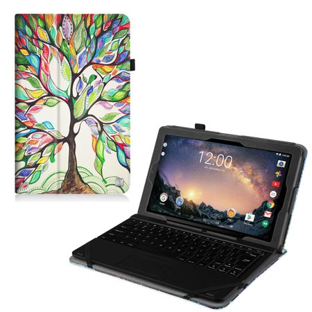 Fintie Rca 11 Galileo Pro11 5  Tablet Case  Rct6513w87dk C   Premium Vegan Leather Folio Stand Cover  Love Tree