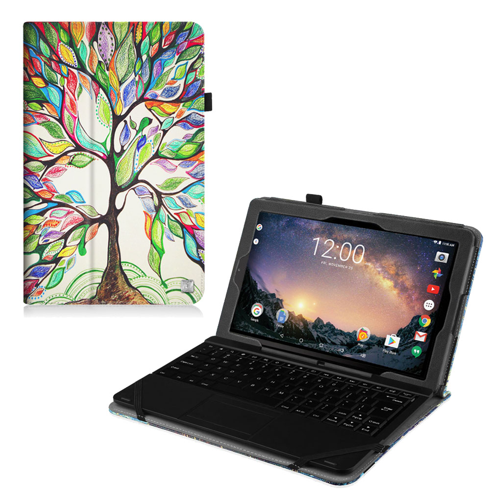 "Fintie RCA 11 Galileo Pro11.5"" Tablet Case (RCT6513W87DK C)- Premium Vegan Leather Folio Stand Cover, Love Tree"